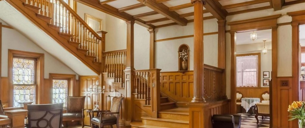 staircase in the interior of patterson inn